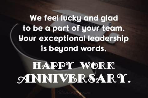 work anniversary wishes  appreciation messages wishesmsg