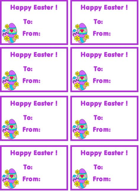 Easter Name Tags Template by Free Tag Free Printable Tags Custom Tags Free Easter Tags