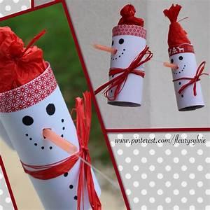Pinterest Deco Noel Recup : bonhomme de neige sur un fil avec rouleau papier wc et ~ Zukunftsfamilie.com Idées de Décoration