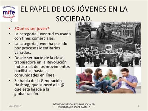 El papel de los jóvenes en la sociedad