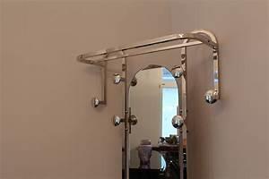 Garderobe Art Deco : schicke garderobe aus aluminium glanz vernickelt art ~ Michelbontemps.com Haus und Dekorationen