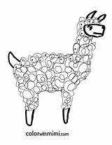Llama Coloring Pages Spring Printable Peru Llamas Lama Drawing Alpaca Mama Cartoon Kidsactivitiesblog Animal Rooster Printables Series Precious Completely Guinea sketch template