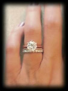 rose gold band with white gold engagement ring luxury best With rose gold engagement ring white gold wedding band