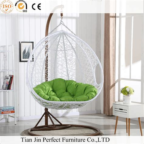 rattan wicker hanging egg chair outdoor jhula patio garden