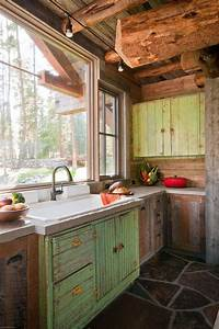 25 best rustic cabin kitchens ideas on pinterest rustic With kitchen colors with white cabinets with rustic bathroom wall art