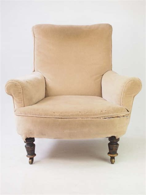Stylish Armchair by Antique Howard Style Armchair For Reupholstery