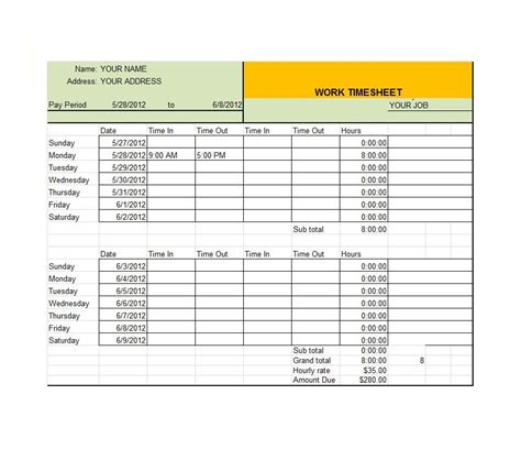 Time Sheet Template For All Employees Word by 41 Free Timesheet Time Card Templates Free Template