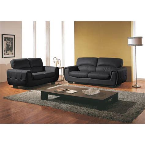 canapé cuir home salon deco salon avec canape cuir noir