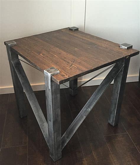 rustic industrial table l rustic industrial end table