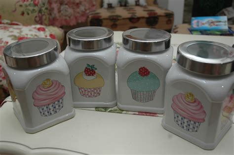 cupcake canisters for kitchen shaza living decor april 2010