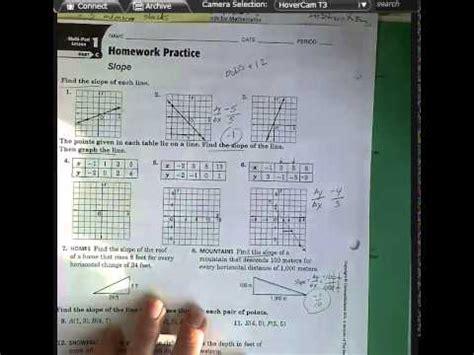 slope homework practice  youtube