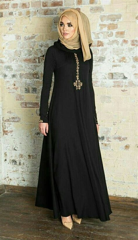 Fancy Lace Embroidered Abaya Designs Latest Collection 2018-2019