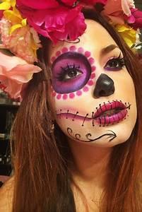 Maquillage Squelette Facile : maquillage halloween fleur maquillage sorciere fille ~ Dode.kayakingforconservation.com Idées de Décoration