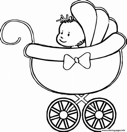 Coloring Pages Stroller Printable Boy Drawing Sheets