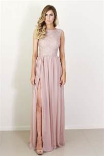 lace bridesmaids dresses blush silk and lace bridesmaid dress onewed