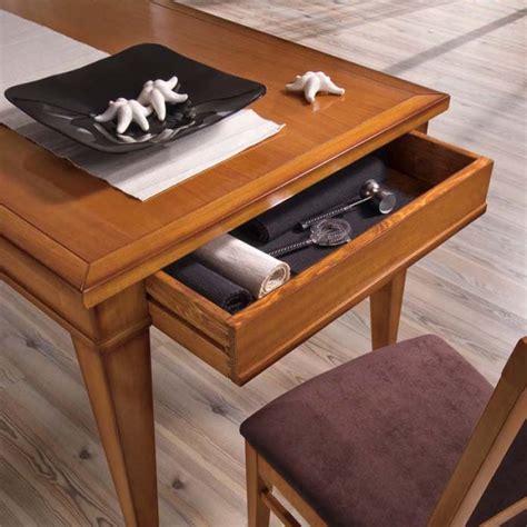 tavoli con cassetti tavolo rettangolare allungabile 160 260x90 con 2 cassetti