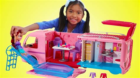 Wendy Pretend Play W Barbie Dream Camper Bus & Disney