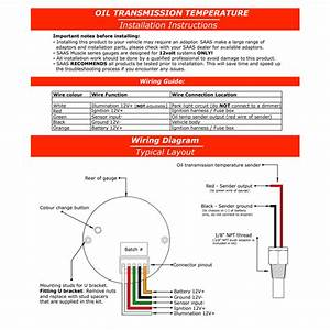 Saas Transmission Oil Temperature Temp 60