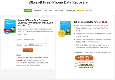 iskysoft iphone data recovery ก ไฟล บน iphone ipod touch ด วย iskysoft free