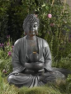 Garten Buddha Frostsicher : buddha brunnen mit led beleuchtung gro h he 83cm f r innen und aussen alles f r garten ~ Markanthonyermac.com Haus und Dekorationen