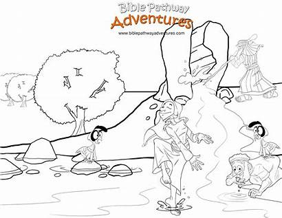 Water Bible Activities Rock Coloring Exodus Pages
