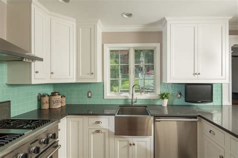 Kitchen Remodel With Custom White Cabinetry