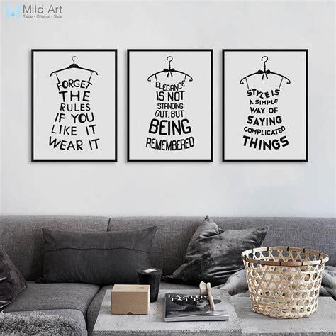 modern abstract black fashion poster print  motivational