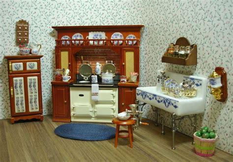 Amanda's Decorated Victorian Kitchen Dollhouse Miniature