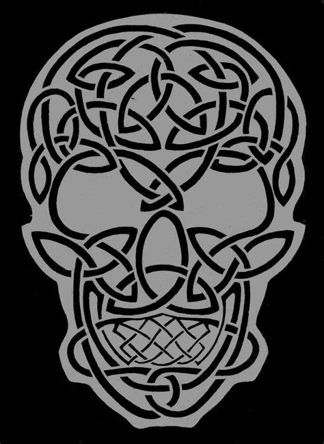 celtic skull | Celtic Skull by TheRaevyn13 | Celtic & Viking Patterns & Craft Ideas | Pinterest