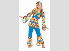 Retro Hippie Girls Costume 1960s Costumes Mega Fancy Dress