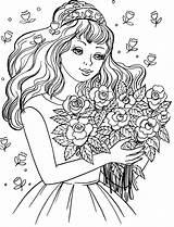 Bride Coloring Groom Popular sketch template