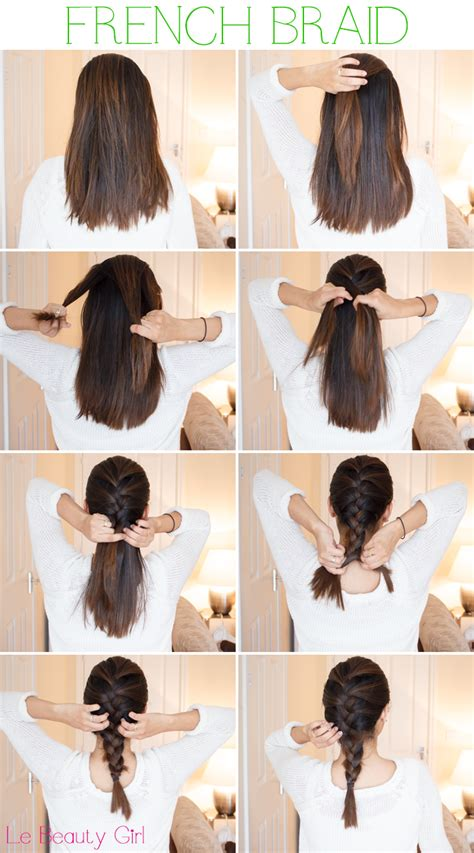 french braid tutorial  medium hair pictures