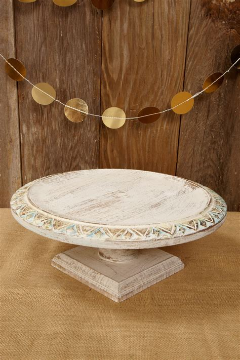 shabby chic stand wood shabby chic cake stand 15 quot