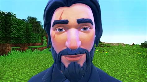 When Fortnite Meets Minecraft Ft. John Wick