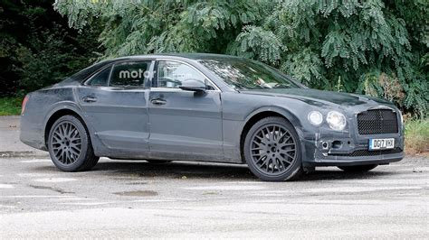 2019 Bentley Flying Spur Caught Testing With New W12 Engine