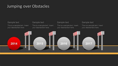 jumping  obstacles powerpoint template slidemodel
