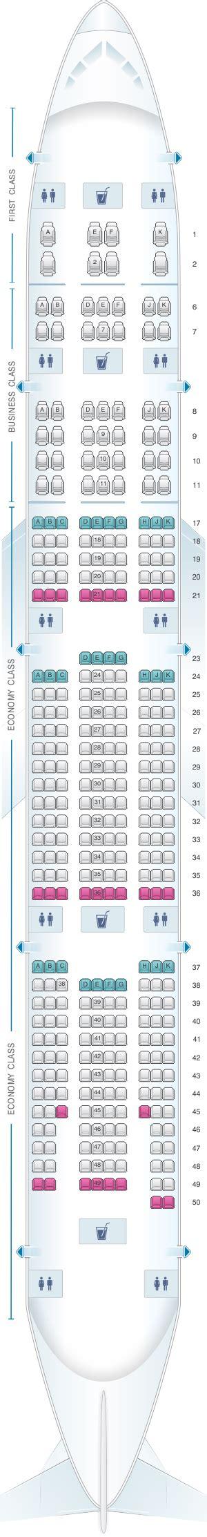 plan siege boeing 777 300er plan de cabine emirates boeing b777 300er three class