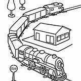 Coloring Train Pages Drawing Caboose Drawings Printable Template Passenger Clipartmag sketch template