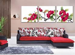 Living Room Canvas Art by Coast Rhododendron Flower Painting Canvas Pictures Living Room Other By