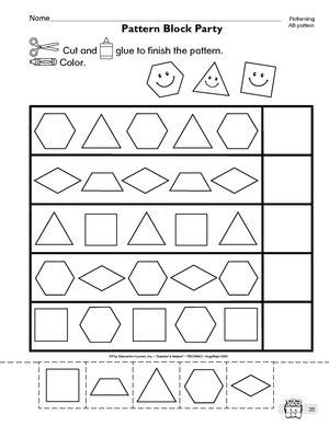 Patterns Kindergarten Worksheets  Color Patterns Worksheets Kindergartenidentifying Worksheet