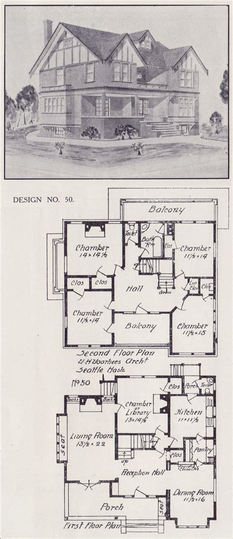 tudor house plan seattle vintage residential