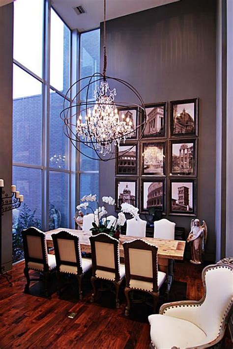 high ceiling chandeliers formal dining room exhibits high ceilings floor to