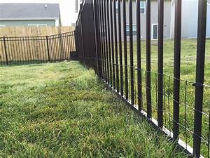 diy keep small dog in yard with welded wire aluminum fence With small dog outdoor fence