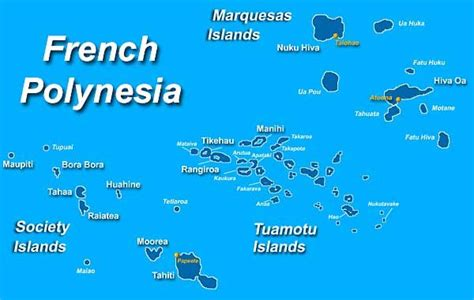 Map Of French Polynesia Society Islands Bora Bora