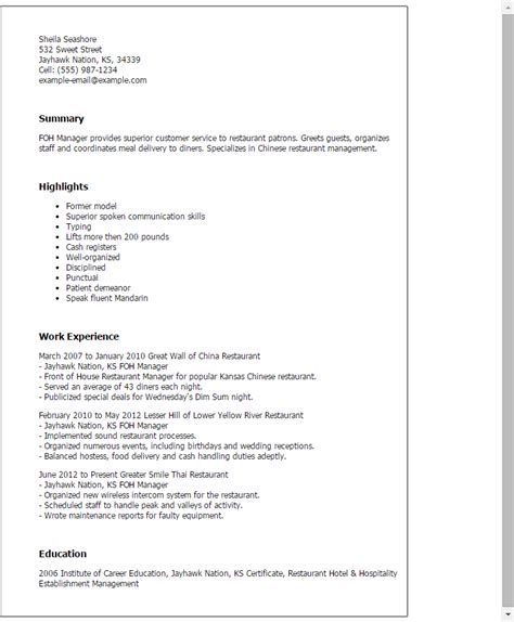 Foh Manager Resume Template — Best Design & Tips. Electrician Resume Template Free. Sample Resume Formats For Experienced. Generate A Resume. Format For College Resume