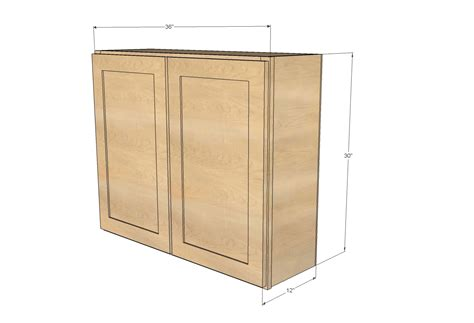ana white 36 quot wall cabinet double door momplex
