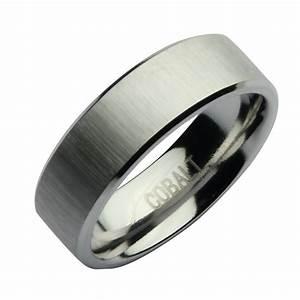 7mm cobalt satin designed wedding ring band cobalt rings With cobalt wedding rings