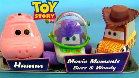Disney Cars Buzz Lightyear Sheriff Woody Hamm Diecast Car