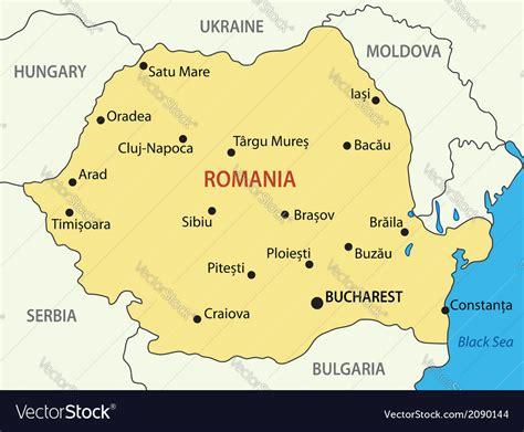 romania map royalty  vector image vectorstock