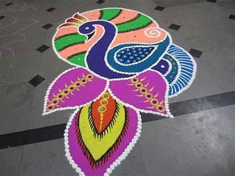 Pictures Of Peacock Rangoli Designs For Competition Catfactsblog